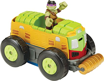 Nickelodeon Teenage Mutant Ninja Turtles Pre-Cool Half Shell Heroes Mutations Shellraiser to City Recycling Truck with Donatello Mutating Vehicle and ...
