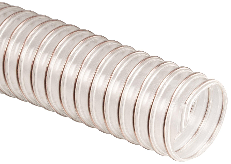 Flx-Thane SD Polyurethane Duct Hose, Clear, 5'' ID, 0.030'' Wall, 25' Length