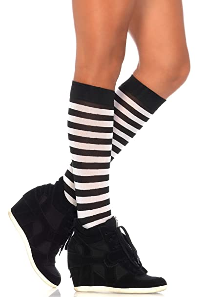 2061c5713f Leg Avenue 5577 - Stripe Knee Highs, Einheitsgröße (Schwarz Und Neon Pink):  Amazon.de: Spielzeug