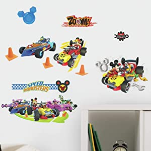 RoomMates Mickey And The Roadsters Racers Peel And Stick Wall Decals