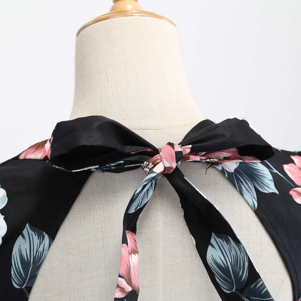 Dresses for Women Party Wedding Long Sleeve Women Vintage Printing Bow Ball Gwn Casual Evening Party Prom Swing Dress