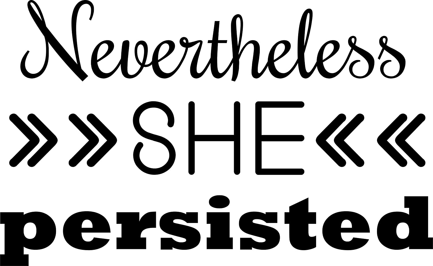 """Nevertheless She Persisted bumper sticker decal #ShePersisted #LetLizspeak 9/"""""""