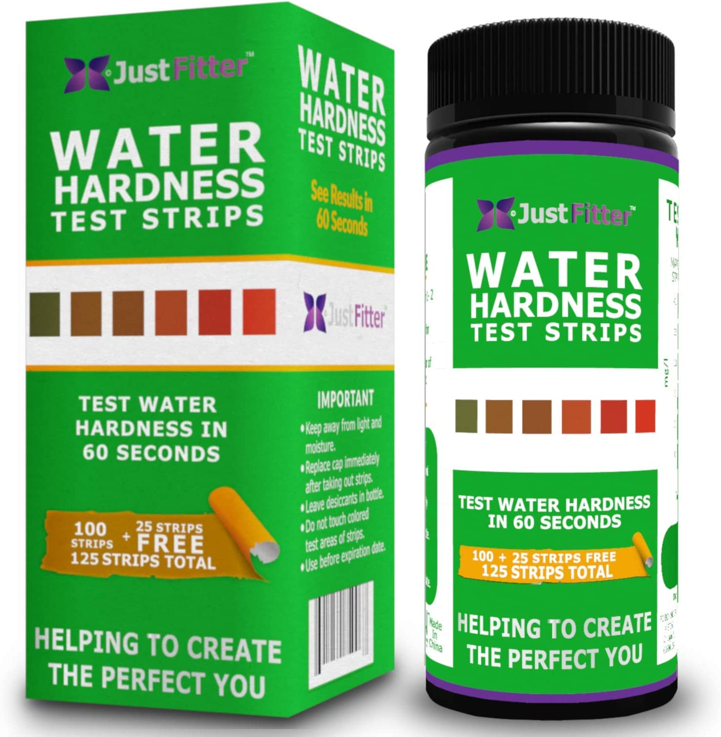 Total Water Hardness Test Strips. Each Strip Best and Reliable for Home Testing Pool, Spa, Aquarium, Drinking Water, Well. Easy to Compare Color Chart. Dip for Quality Accurate Results in Seconds.