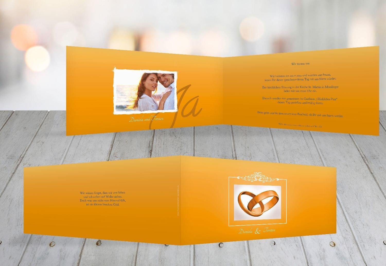 Kartenparadies Hochzeitskarte Hochzeit Einladung Din Din Din Ringetausch, hochwertige Einladung zur Heirat inklusive Umschläge   10 Karten - (Format  215x105 mm) Farbe  flamingoOrangerot B01N364M3U | Mangelware  | Internationale Wahl  | Kostengünstig  577991