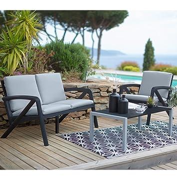GROSFILLEX - Salon de jardin Lounge Sunday Barcelone design: Amazon ...