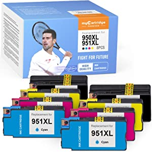 myCartridge PHOEVER Compatible Ink Cartridge Replacement for HP 950XL 951XL 950 XL 951 XL Ink for Officejet Pro 8600 8610 8100 8615 8620 8625 8630 8640 (2 Black,2 Cyan,2 Magenta,2 Yellow, 8-Pack)