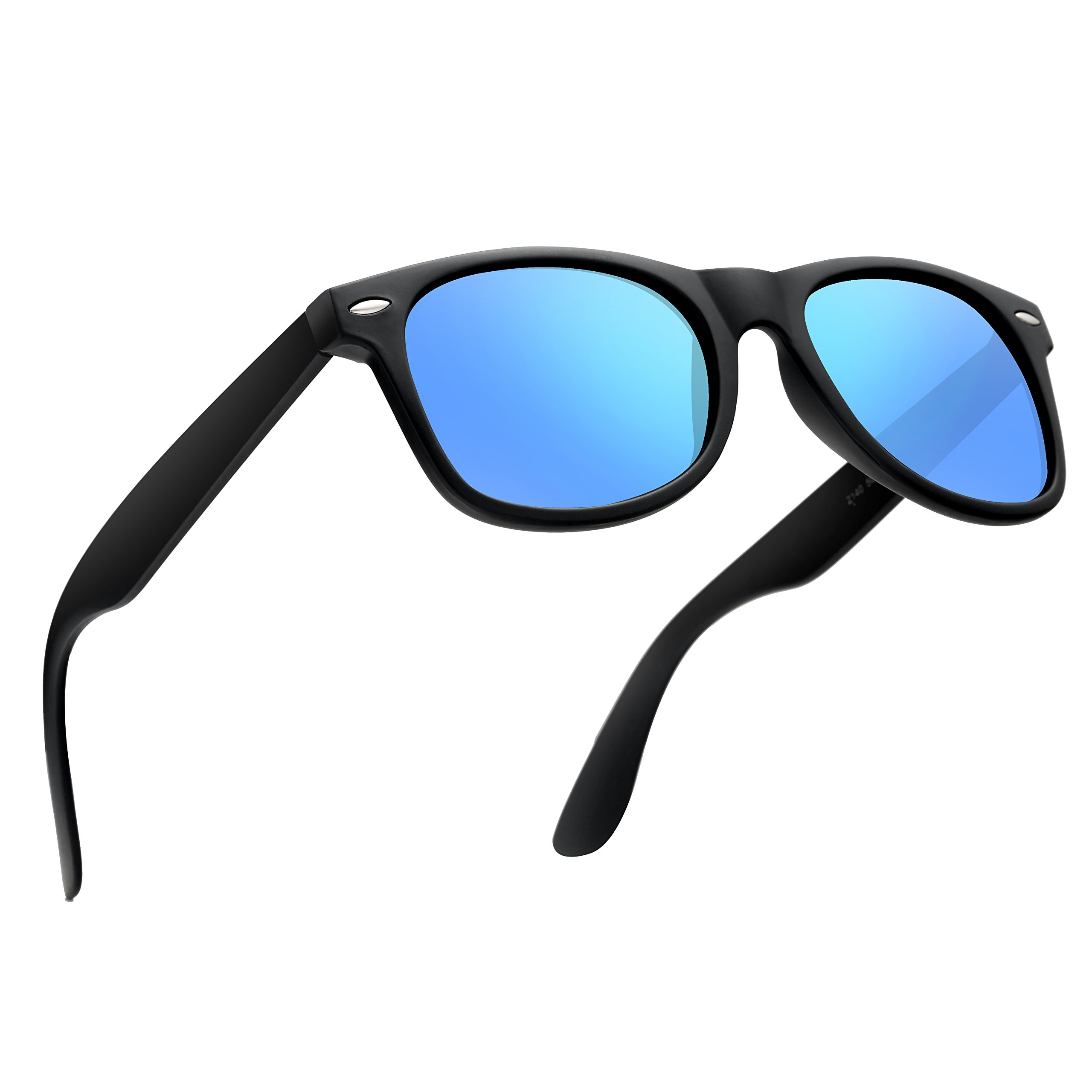 wearpro Wayfarer Sunglasses for Men Vintage Polarized Sun Glasses WP1001-2 (Blue, 2.13) by wearpro