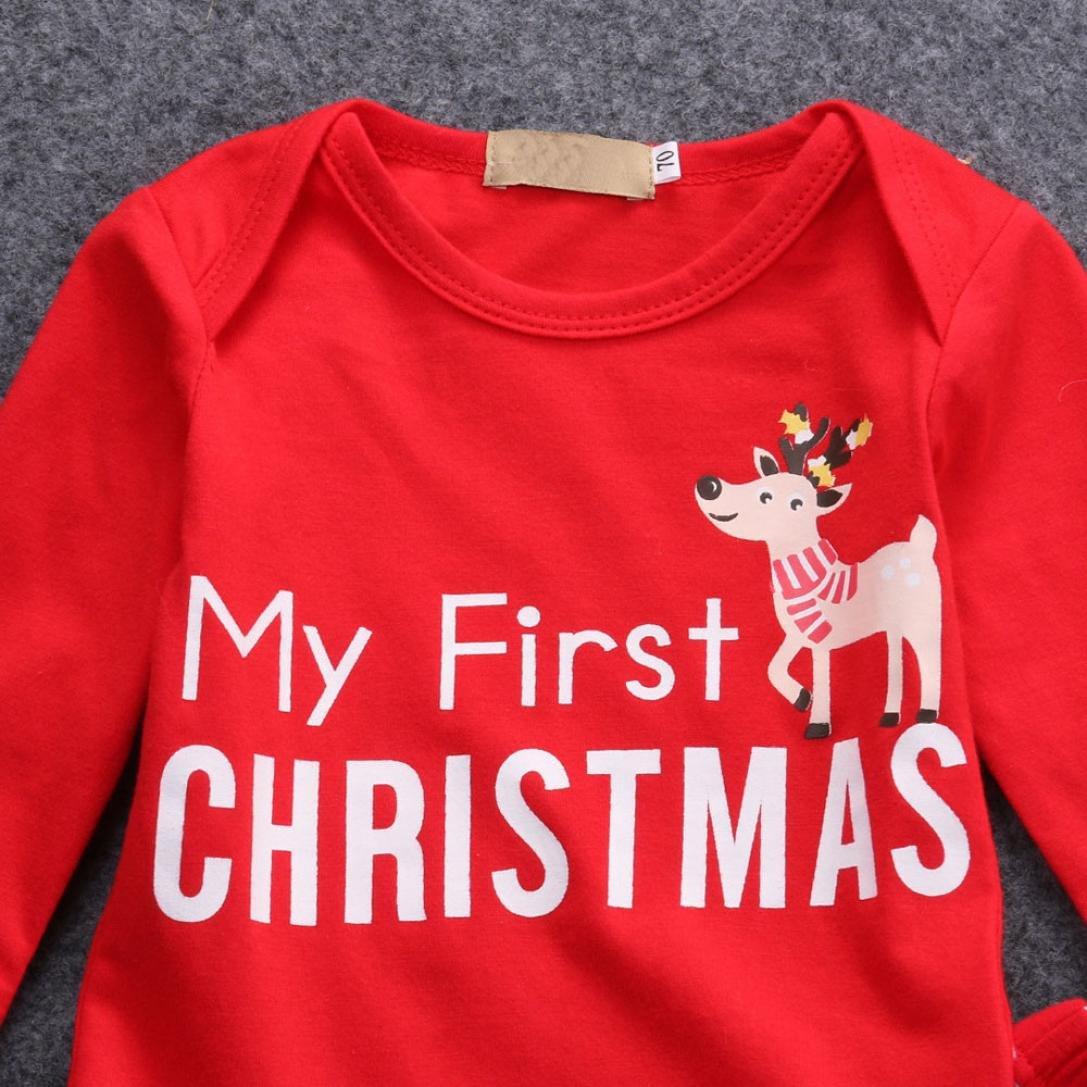 Kobay Weihnachten Neugeborene Baby Mädchen Jungen Outfits Kleidung 2 ...