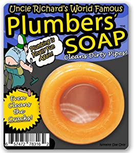 Uncle Richard's Plumbers Soap – Cleans Dirty Pipes Plumber Gifts for Men Handyman Gifts Soap for Men Naughty Stocking Stuffers for Guys Plumber Tools Willy Washer Weiner Dick Soap Gag Gifts f