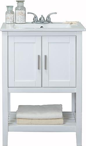 Legion Furniture WLF6020-W Sink Vanity, 24 , White