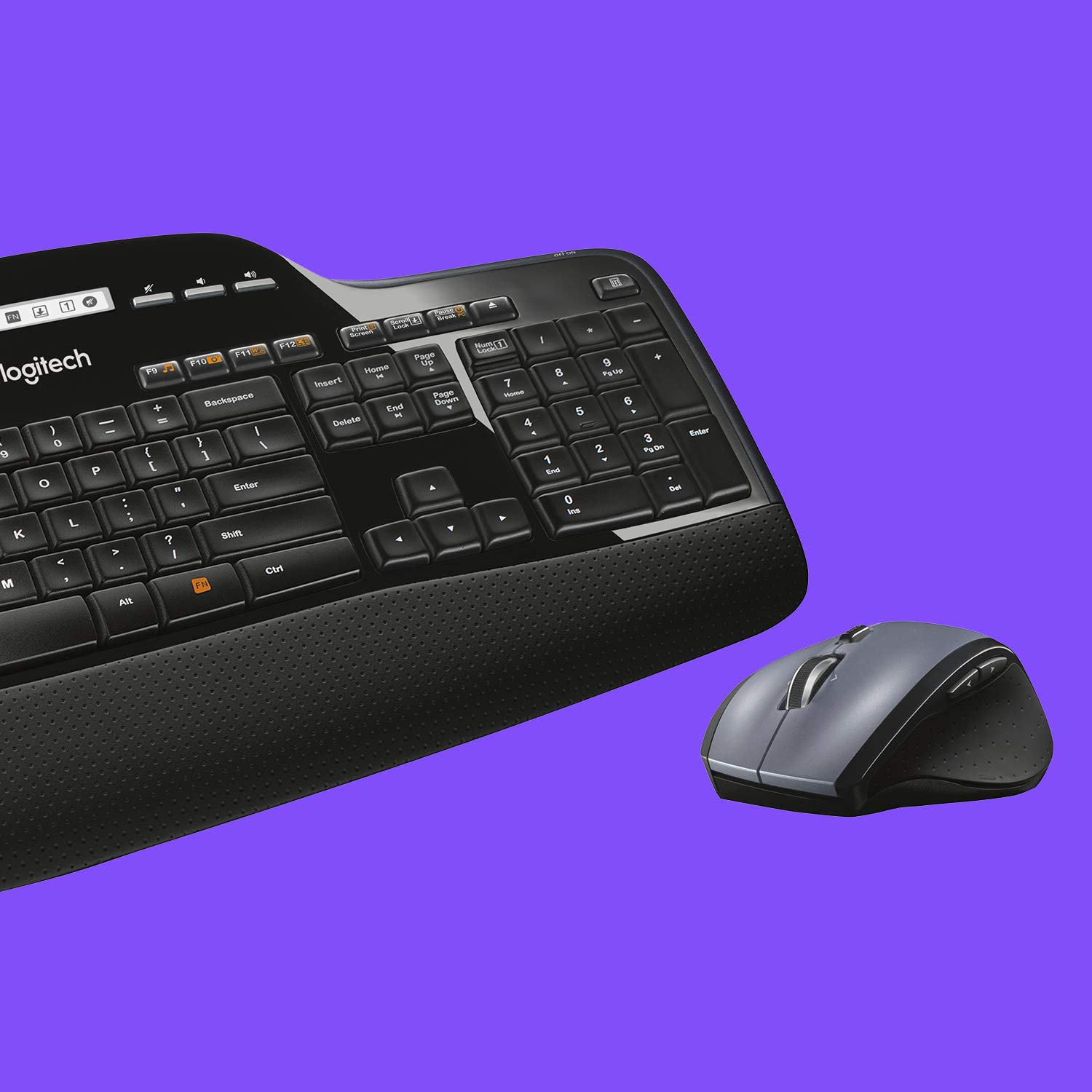 Logitech MK710 Wireless Keyboard and Mouse Combo Built-In LCD Status Dashboard
