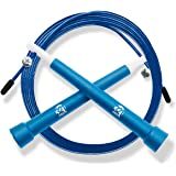 Plastic Fitness Jumprope with Adjustable 11 Foot Cable , Carrying Bag , Bonus 4K eBook and Replacement Parts