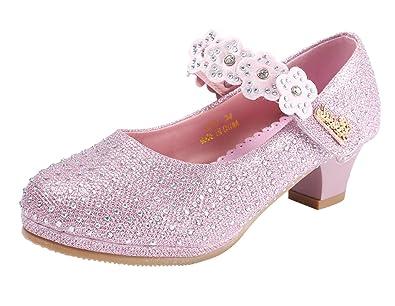 7362be35086af2 Eozy Chaussure Fille Ballerine à Talon Chaussure Princesse Enfant pour  Cérémonie Mariage avec Bretelle: Amazon.fr: Chaussures et Sacs