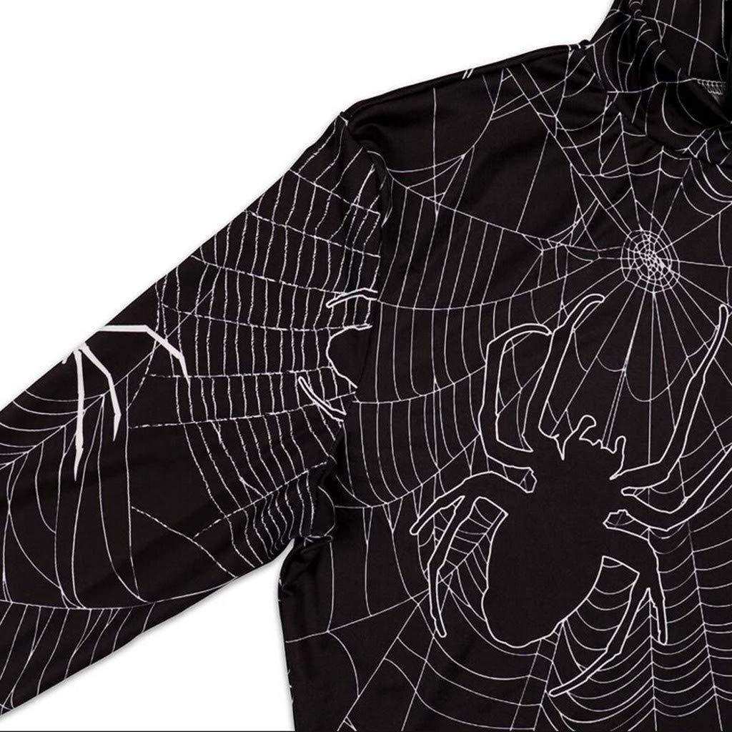 TWIFER Bodycon Kost/üm Neuheit Partykleid Punk Halloween Bloodstain Gedr/ückt Langarm Kleid