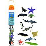 Safari Ltd Ocean TOOB Comes With 12 Different Hand Painted Animal Toy Figurine Models Including Sea Lion, Eagle Ray, Starfish