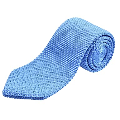 Alizeal Estructura–Corbata Ancha de Punto para Hombre Azul Claro ...