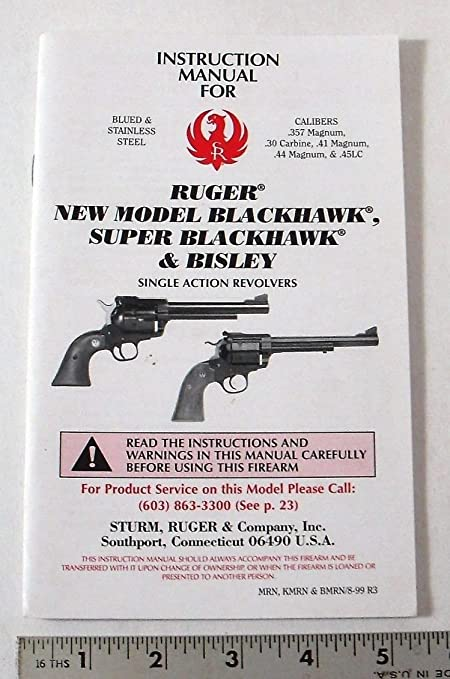 amazon com ruger 1999 instruction manual parts list for new rh amazon com Ruger New Model Super Blackhawk 44 Mag Ruger New Model Blackhawk Holsters