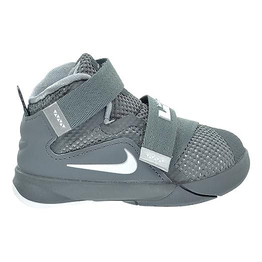 Men's Nike LeBron Soldier 9 IX Cool Grey White Wolf Grey Sneakers : V20j2262