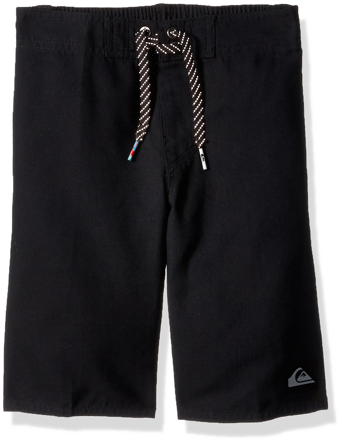 Quiksilver Little Boys' Highline Kaimana Kids Swim Trunks, Black, 7X