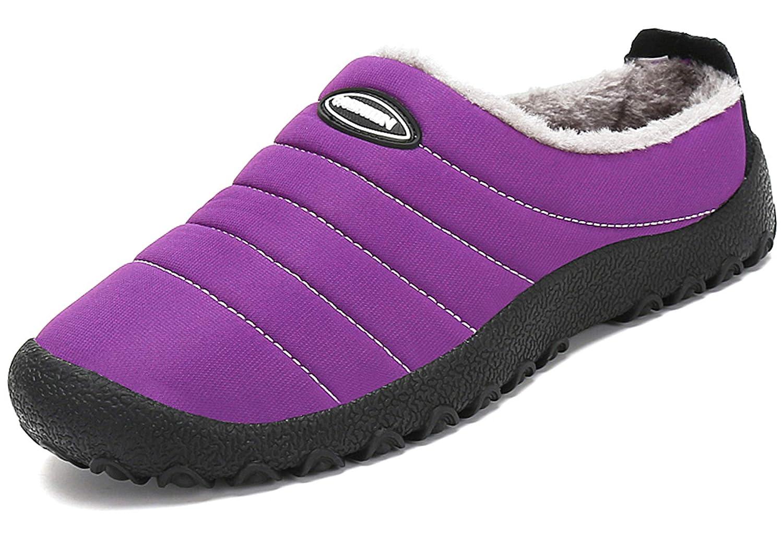katliu Chaussons Femme Homme Pantoufles Hiver Chaussons Chaud Chaussures Chaussures Femme D Intérieur Extérieur avec Fourrure Confortable,Semelle Antidérapante Violet b5fbb4b - reprogrammed.space