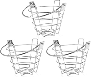 Crown Sporting Goods Golf Range Baskets - Small Metal Ball Carrying Buckets, Steel Wire Practice Container with Handle - Holds 50 Balls