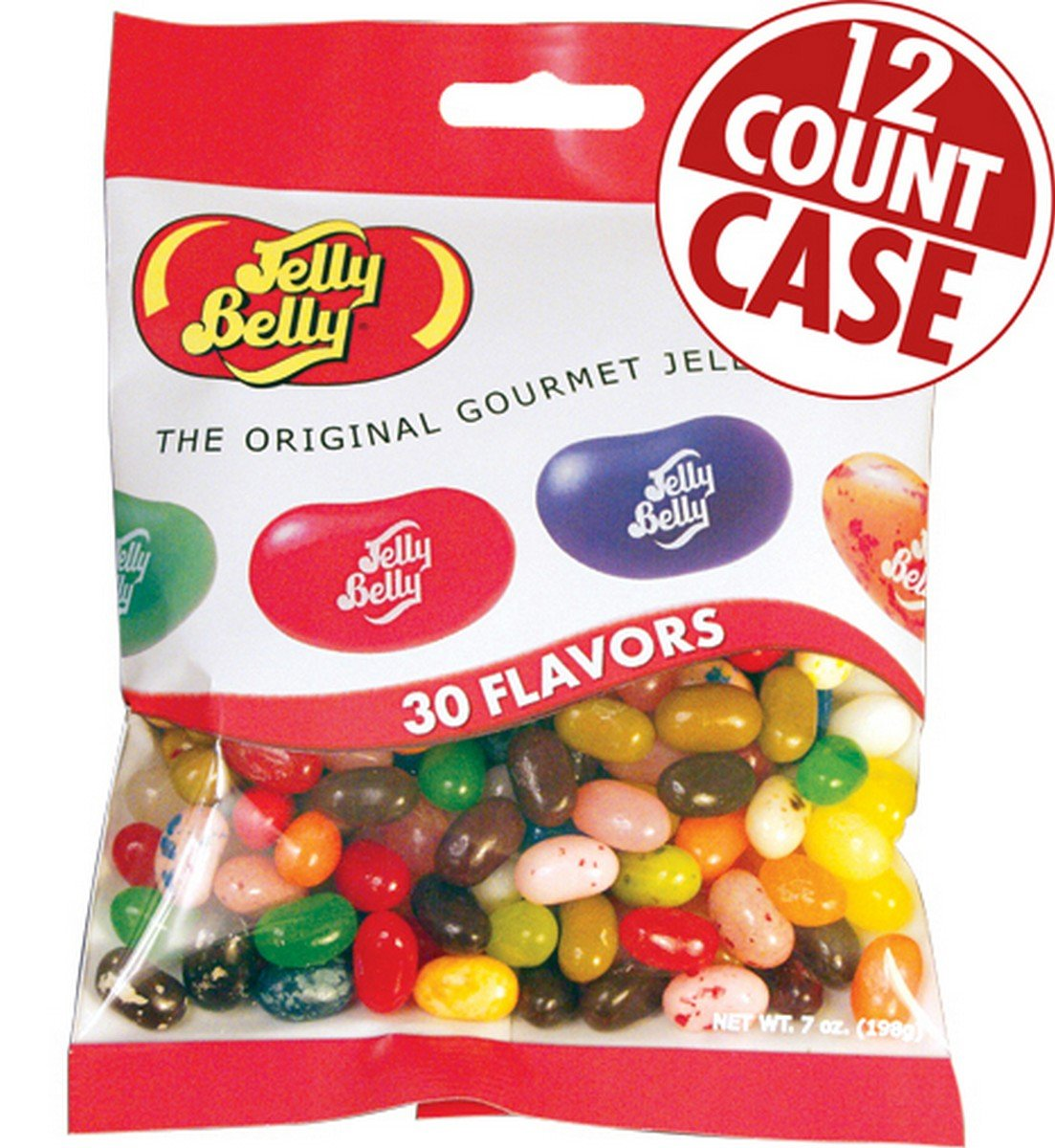 Jelly Belly Jelly Beans, 30 Flavors, 7-oz, 12 Pack