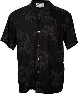 product image for Aloha Bamboo - Men's Hawaiian Print Aloha Shirt - in Black