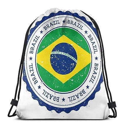 Bandera de Brasil Mochila con cordón Mochila Mochilas ...