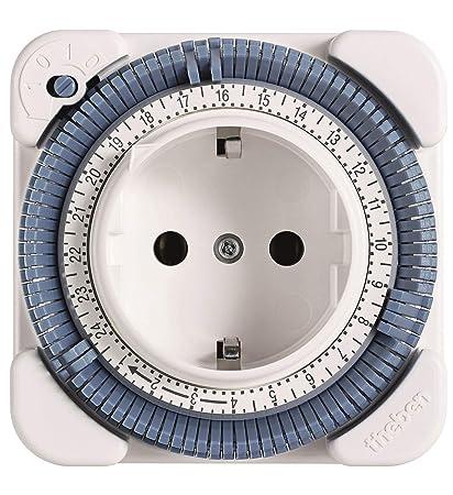 Schema Collegamento Orologio Theben : Theben timer 26 presa con timer colore: bianco: amazon.it: fai da te