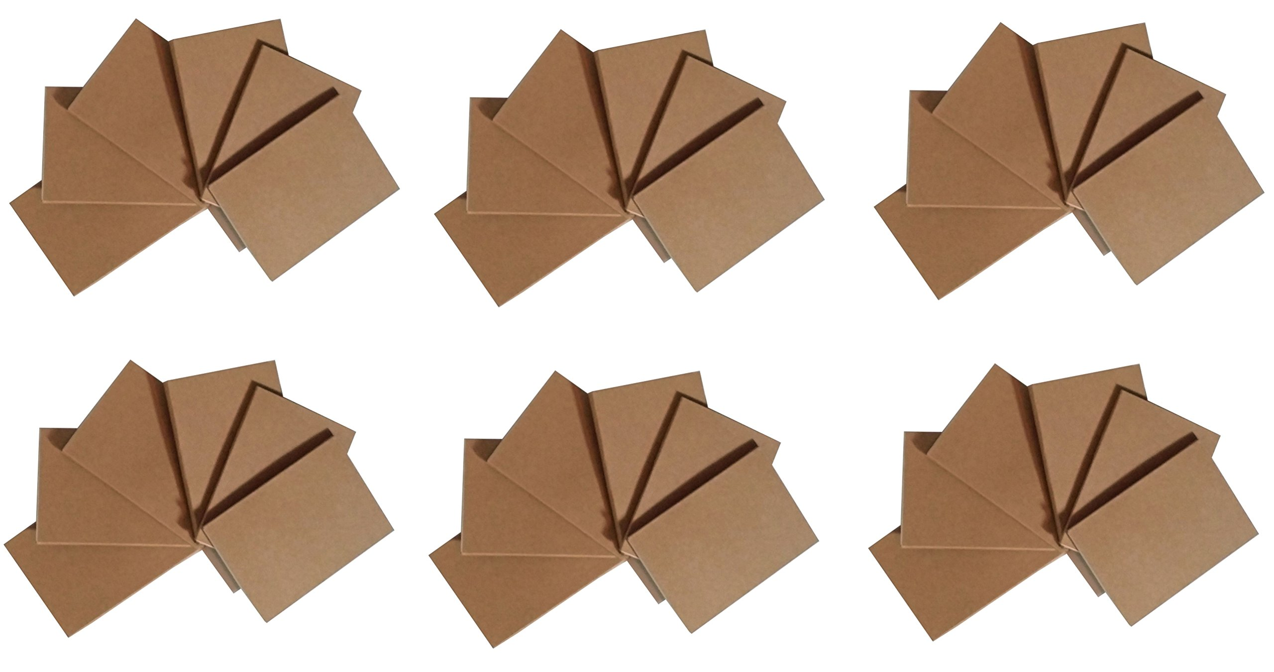 Notepads with Kraft Paper Covers - Bulk Buys (36 Notebooks, 4.5 x 3 Mini Notebooks)
