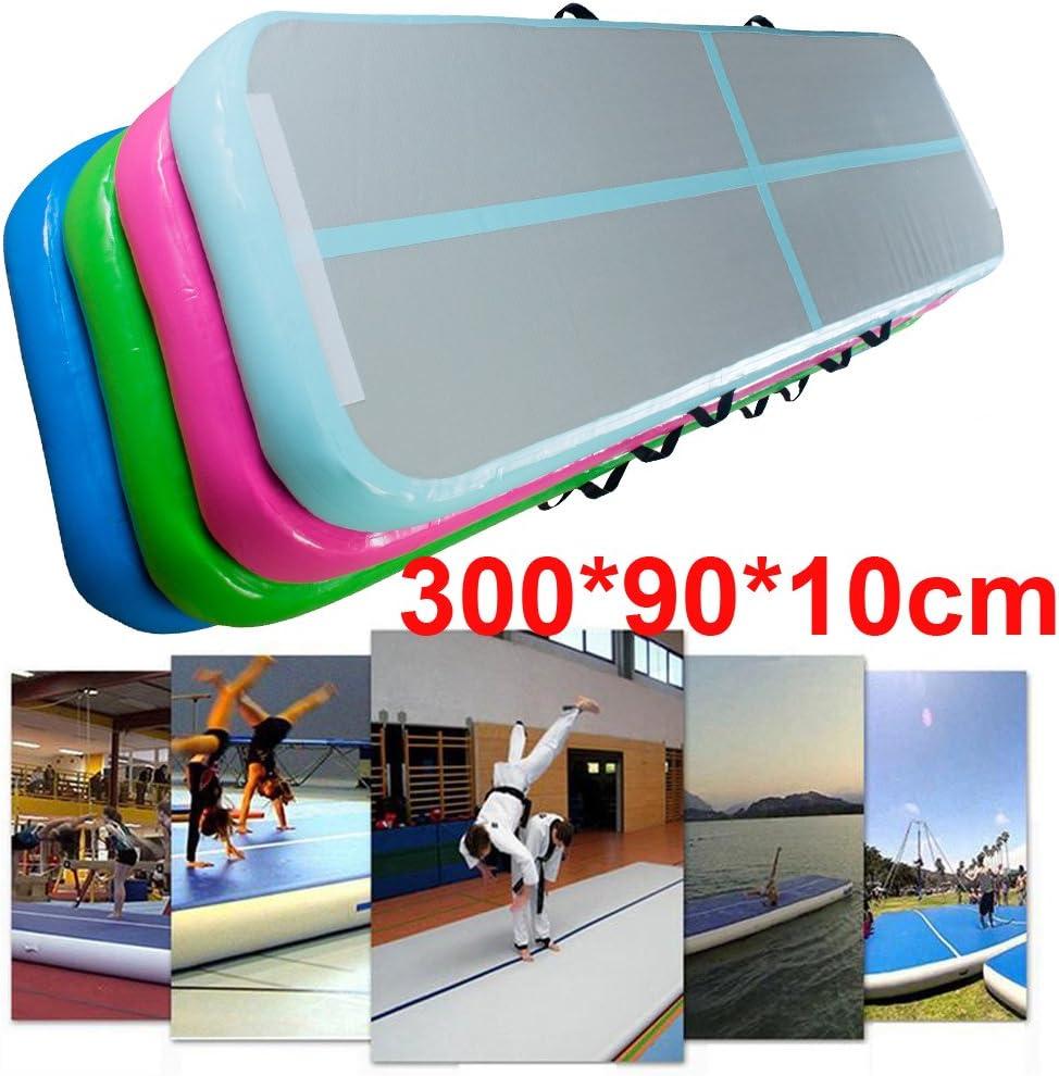 dodoing hinchable colchoneta de gimnasia (aire piso pista Tumbling gimnasia alfombrillas animadora para uso doméstico/Taekwondo/Formación/playa/parque/escuela/hierba, 300 x 90 x 10 cm: Amazon.es: Juguetes y juegos