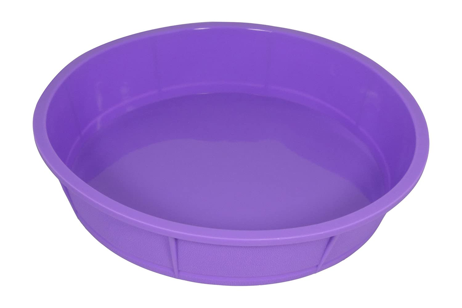 Bakerpan Premium Silicone Round Cake Pan, Round Mold, 10 Inches (Purple, 1) 02032