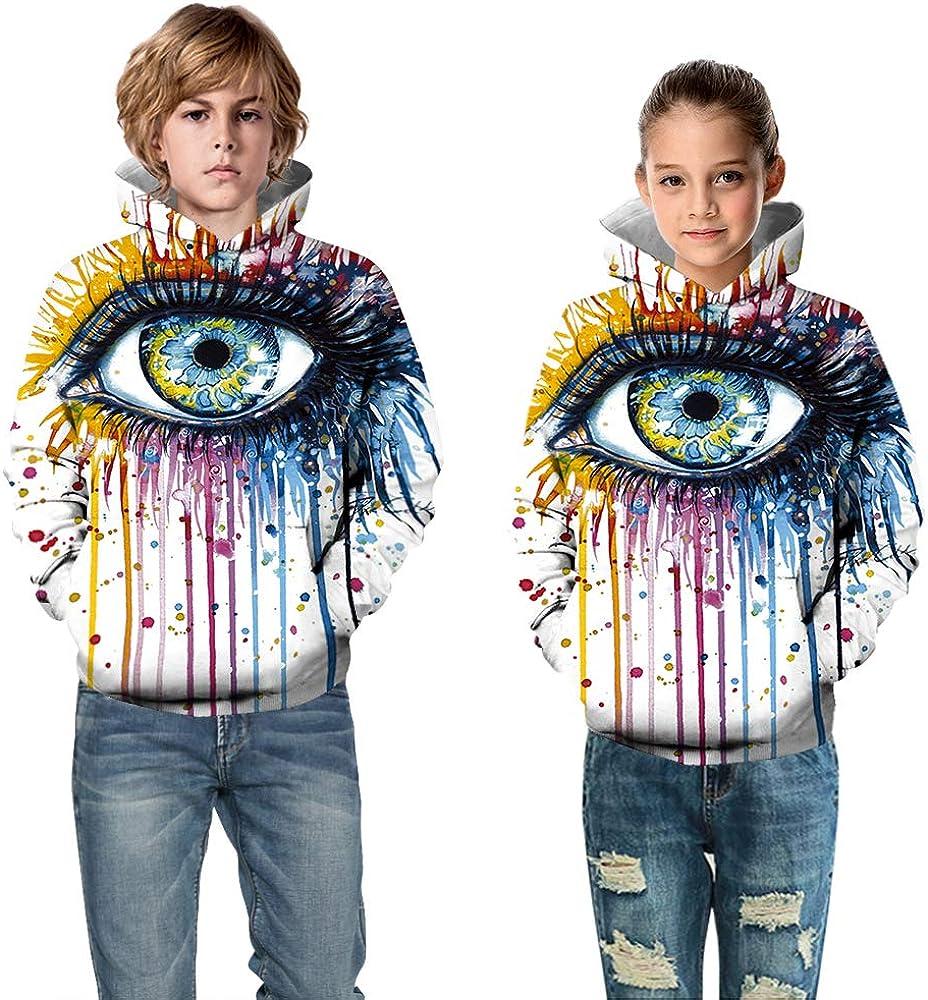 CYUURO Teen Girls Little Boys Novelty Animal Galaxy Hoodies Sweatshirts Pullover with Pocket