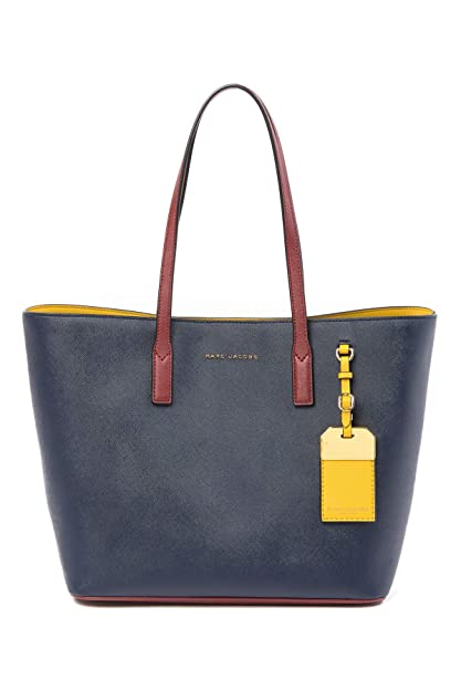 1c9192203 Marc Jacobs Shopping Bag Marine Yellow Leather 45x28x17cm new. Roll over  image to zoom in