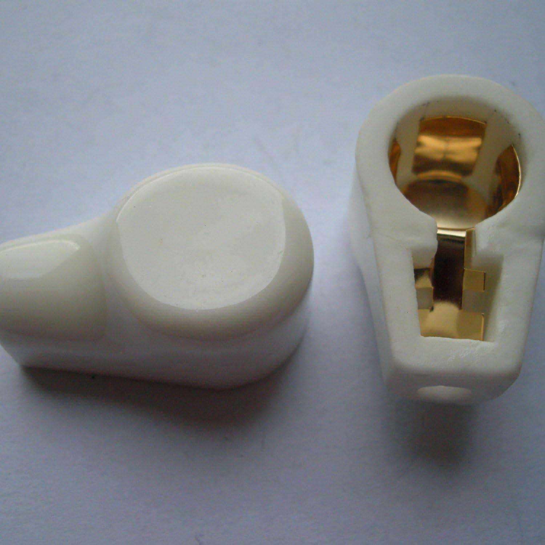 Cary 2pcs Gold Tube Caps Ceramic Socket for 811 805 572b 813 Mcdg Audio Amp Parts