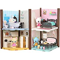 FULIM 4-in-1 Dollhouse Toy, Doll House for 2 3 4 Year Old Little Girls, Toddler Dollhouses with Bathroom Bedroom Kitchen…