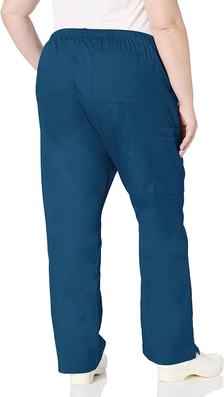 WONDERWINK Womens Plus-Size Wonderwork Plus Size Straight Leg Cargo Scrub Pant Medical Scrubs Pants