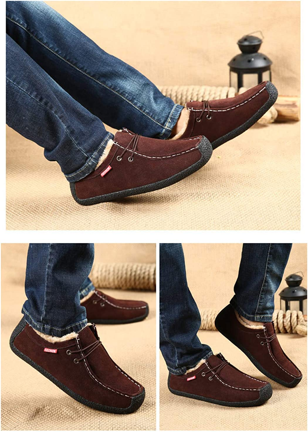 SusanY Mens Suede Loafers Comfortable Casual Shoes Boat Shoes Moccasins Walking Shoes Brown 14.5 M US