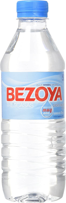 Bezoya Agua Mineral Natural Botella 50cl - [Pack de 12]