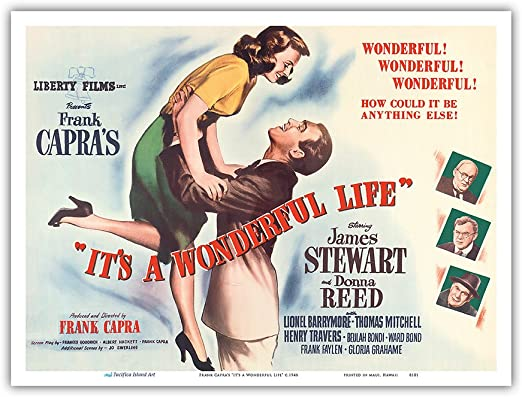 frank CAPRA/'S it/'s a WONDERFUL life 1946 CLASSIC love story 24X36