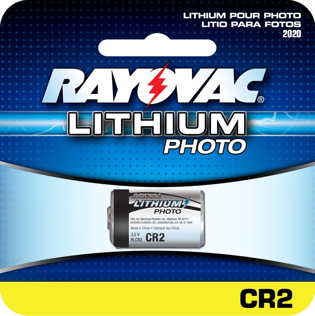 Rayovac RLCR2-1 Photo Lithium Battery Replacement