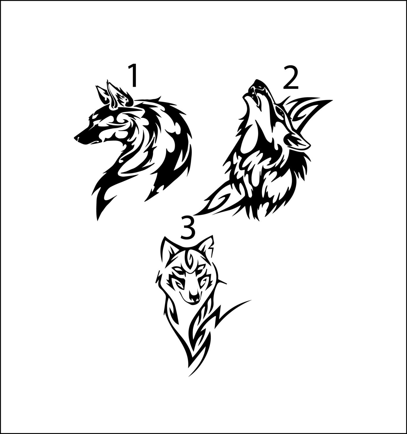 Amazon com tribal wolf decal masculine vinyl car decal yeti decal for guys howling wolf tumbler decal decal sticker for men tribal animal decal home