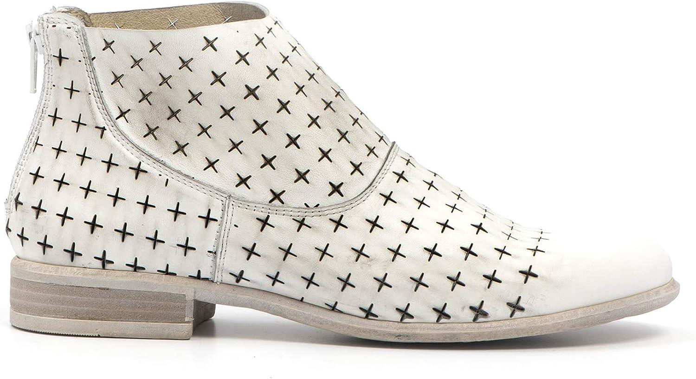 Ankle Boots in Pelle Forata - 207 Bianco - Taglia Bianco