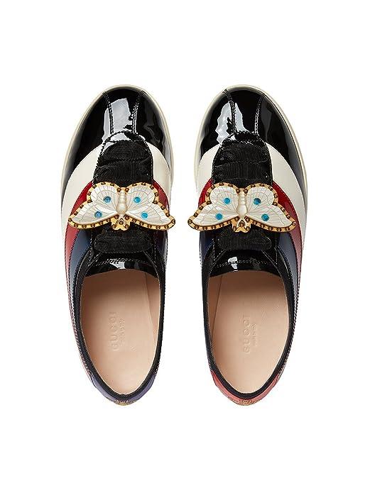 Gucci Mujer 4936870B9101082 Negro Cuero Zapatos  Amazon.es  Zapatos y  complementos eac9b5c344f