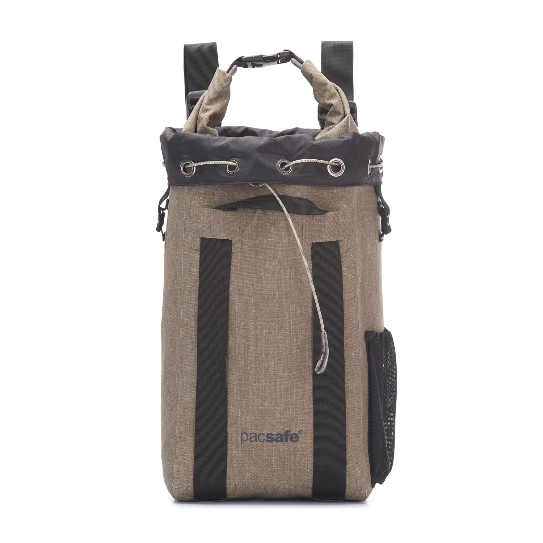 Pacsafe Travelsafe 3L GII - Mobiler Safe mit TSA-Zahlen Schloß, Trage-Tasche mit Anti-Diebstahl Technologie, 3 Liter Volumen, Schwarz/Black 10481100