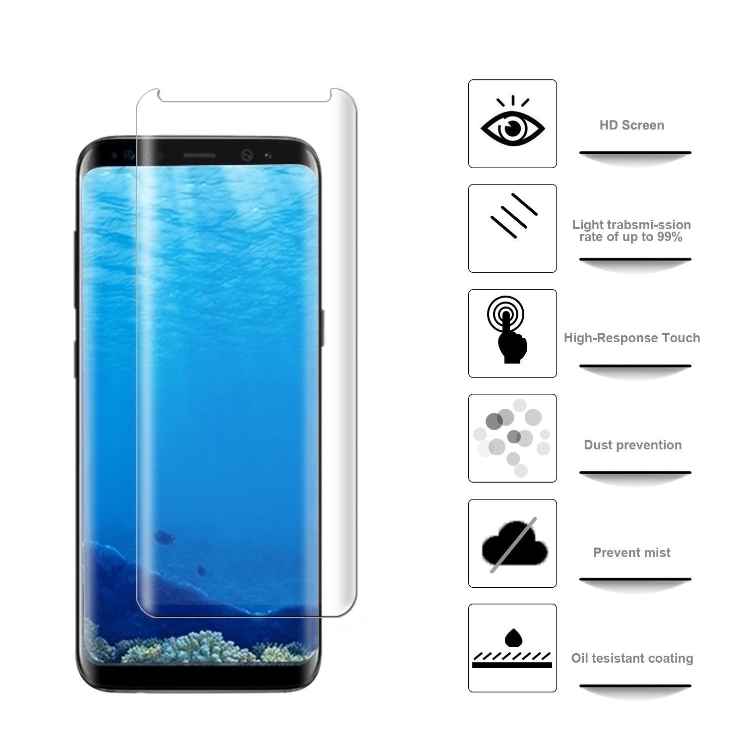 Amazon.in: Buy TrueUpgrade® Samsung S9 Plus / S9 + 5D Half Screen Body  Clear Tranparent Tempered Glass Screen Protector Guard For Samsung Galaxy  S9 Plus / S9 + - Samsung S9 Plus