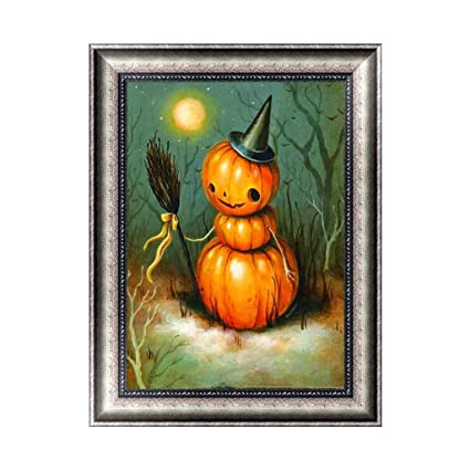 Halloween Pumpkin 5D Diamond Painting DIY Embroidery Cross Stitch Home Decor Cross Stitch Kits Hand Embroidery Kits