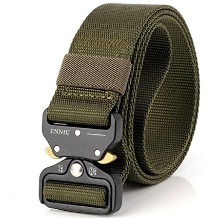 Outdoor Heavy Duty Rigger Army Belt Military Tactical Quick-Release Metal Buckle