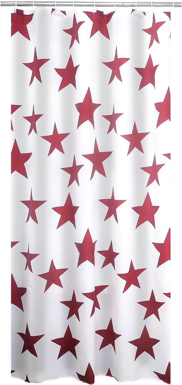 /00/Tenda Doccia Bianco//Nero Ridder 403210/ Tessuto 200/x 180/cm
