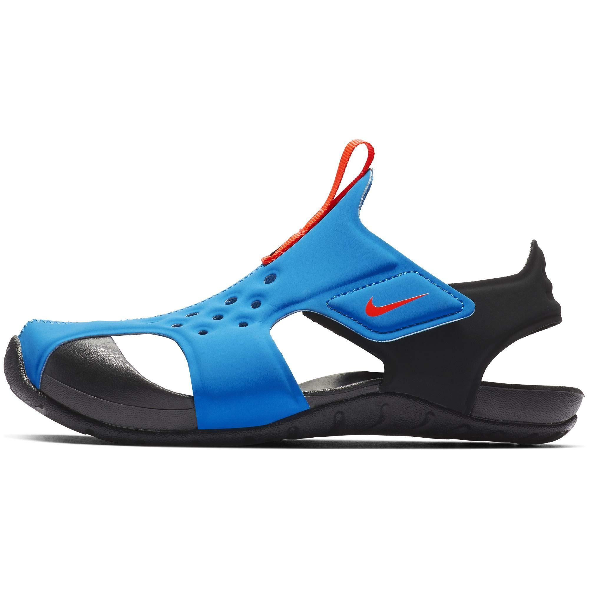 Nike Boys' Sunray Protect 2 (PS) Preschool Sandal Photo Blue/Bright Crimson-Black, Size 12 M US Little Kid